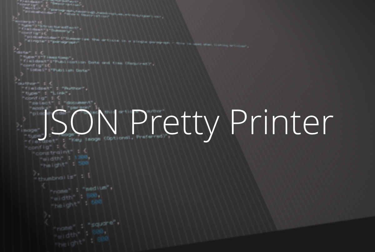 Pretty Print JSON